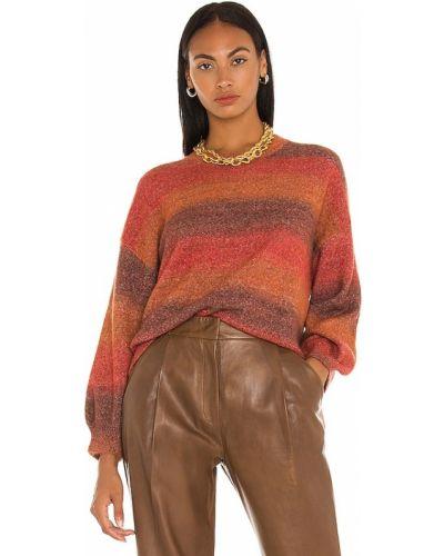 Pomarańczowy sweter z akrylu Central Park West
