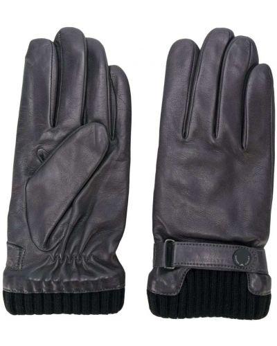 Кожаные перчатки шерстяные Emporio Armani