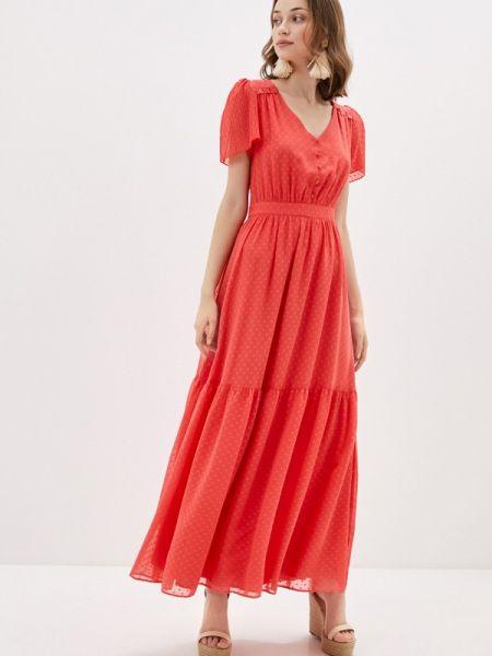 Платье коралловый прямое Naf Naf