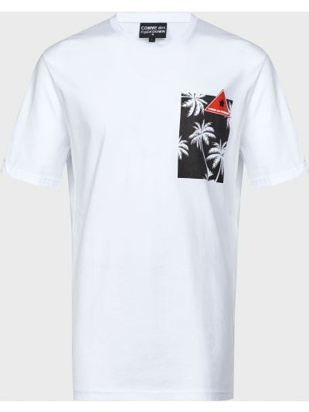 Хлопковая белая футболка Comme Des Fuckdown