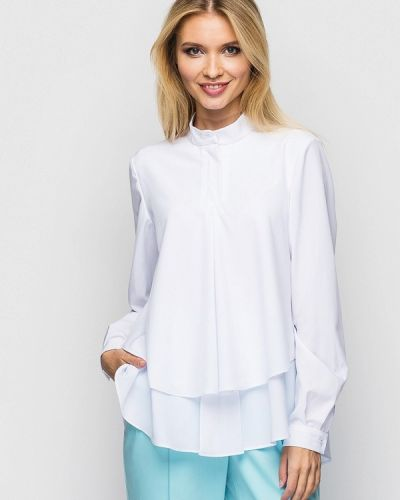 Белая блузка с длинным рукавом Helenka