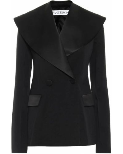 Шерстяной черный пиджак Jw Anderson