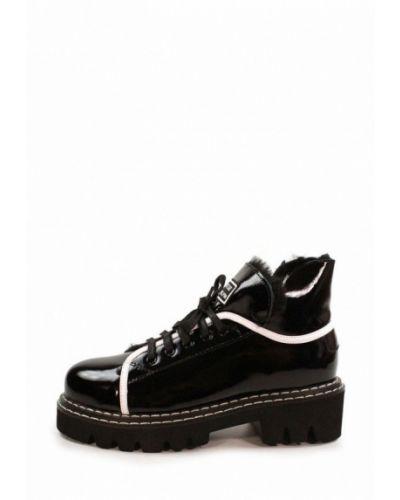 Кожаные ботинки - черные Visttaly