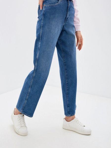 Широкие джинсы расклешенные синие Wrangler