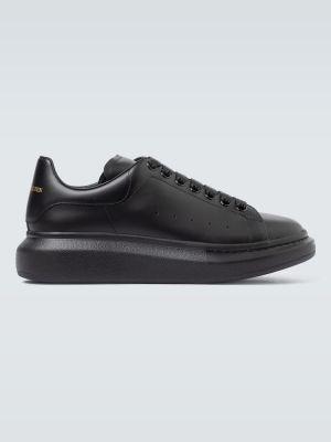 Кожаные черные кроссовки Alexander Mcqueen