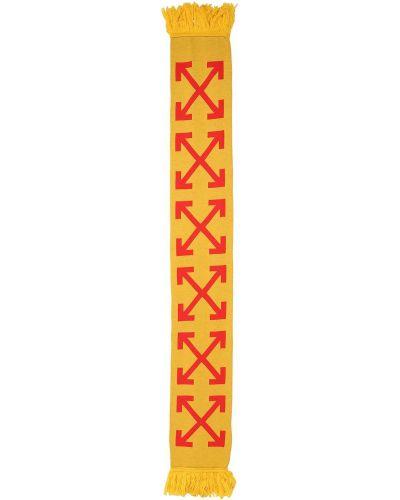 Со стрелками желтый шарф Off-white