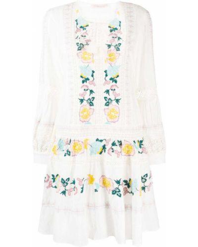 Платье с вышивкой на пуговицах Tory Burch