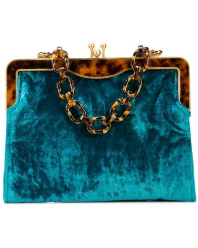 Синяя сумка Edie Parker