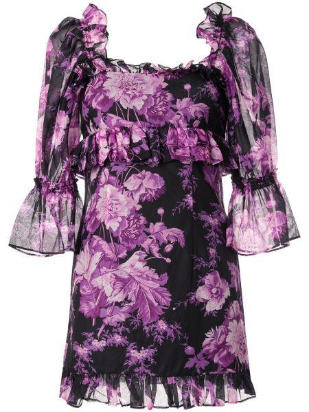 Платье мини розовое с розами Alice Mccall