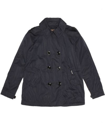 Персиковое шерстяное пальто классическое с капюшоном Woolrich Kids
