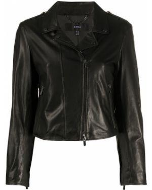 Кожаная куртка черная длинная Arma