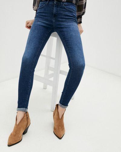 Синие джинсы-скинни узкого кроя Noisy May