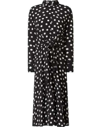 Czarna sukienka rozkloszowana w grochy Jake*s Collection
