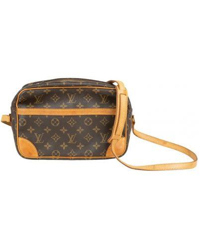 Brązowa torba na ramię skórzana Louis Vuitton Vintage