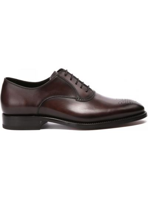 Коричневые туфли на шнуровке Franceschetti