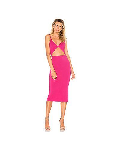 Платье миди розовое облегающее Lovers + Friends