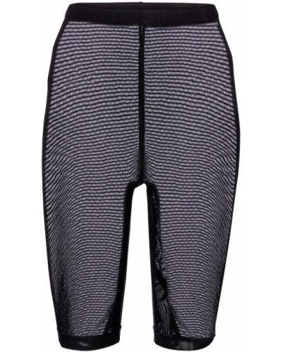 Трикотажные шорты - черные David Koma