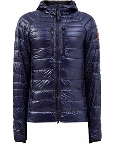 Нейлоновая синяя куртка с карманами с капюшоном Canada Goose