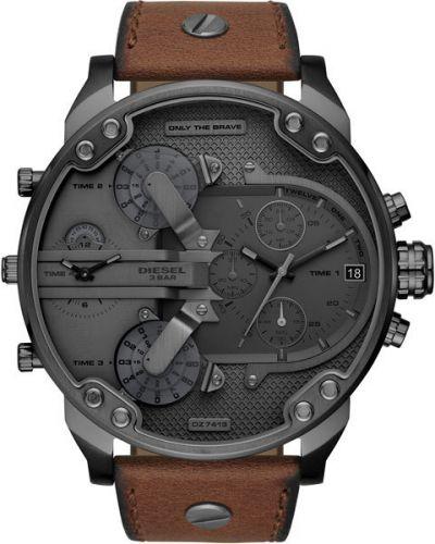 Часы водонепроницаемые с кожаным ремешком Diesel