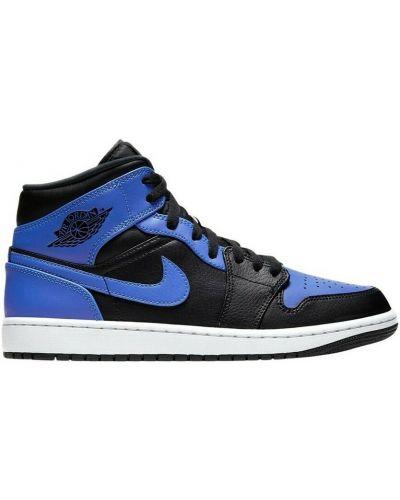 Niebieskie trampki wysokie casual płaska podeszwa Nike