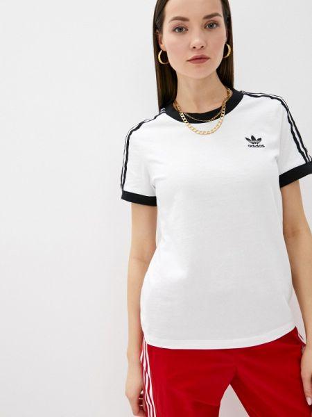 Футбольное белое поло Adidas Originals