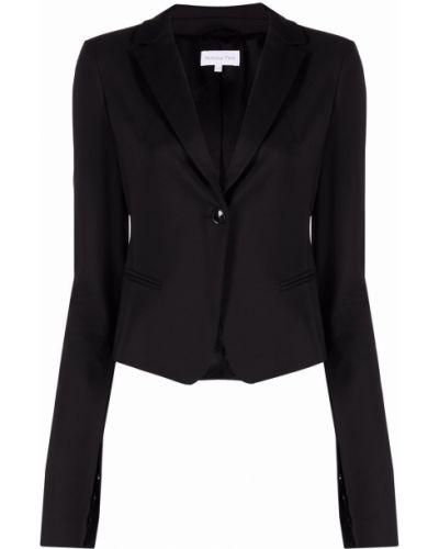 Однобортный черный удлиненный пиджак с подкладкой Patrizia Pepe