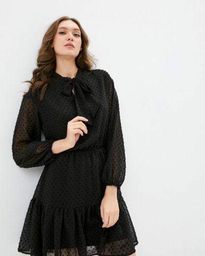 Прямое черное платье Lorani