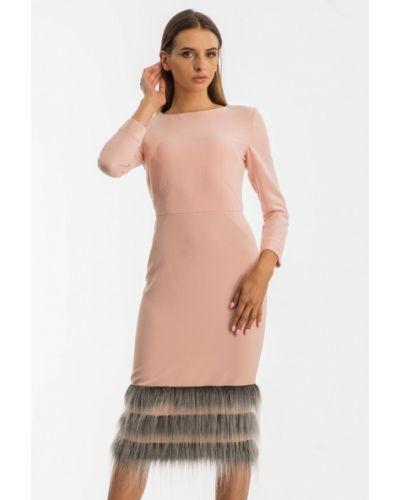 Вечернее платье осеннее розовое Nai Lu-na By Anastasia Ivanova