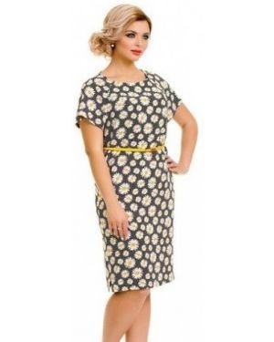 Повседневное платье из штапеля с поясом Novita