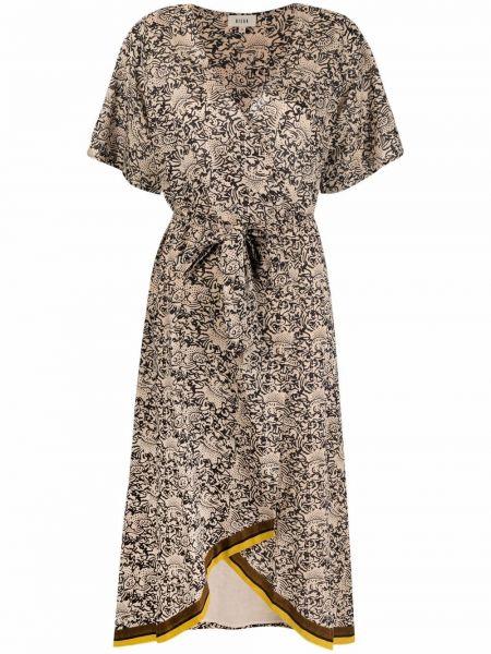 Платье с запахом - бежевое Diega