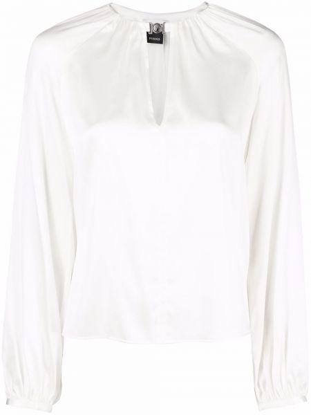 Bluzka z jedwabiu - biała Pinko