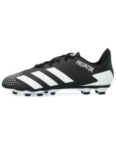 Черные футбольные бутсы на шнуровке Adidas
