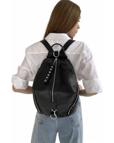 Кожаный рюкзак - черный Polina & Eiterou