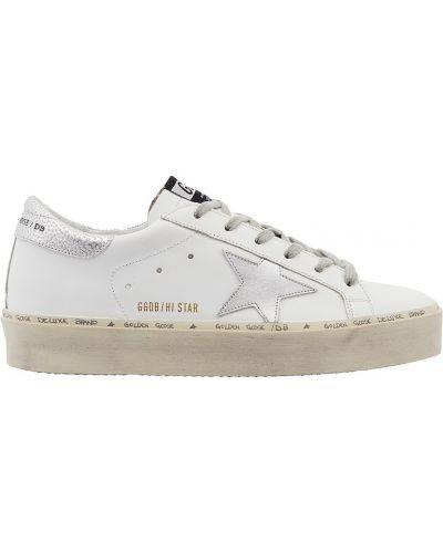Кожаные кроссовки белый с логотипом Golden Goose Deluxe Brand