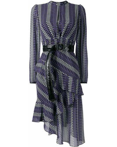 Платье миди с вырезом с длинными рукавами Three Floor
