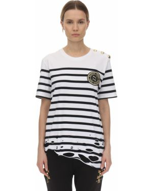 Biały t-shirt Puma X Balmain