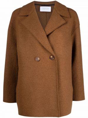 Коричневая длинная куртка Harris Wharf London