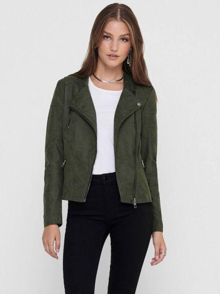 Китайская зеленая куртка осенняя Only