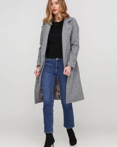 Пальто двубортное с карманами на пуговицах Дефиле