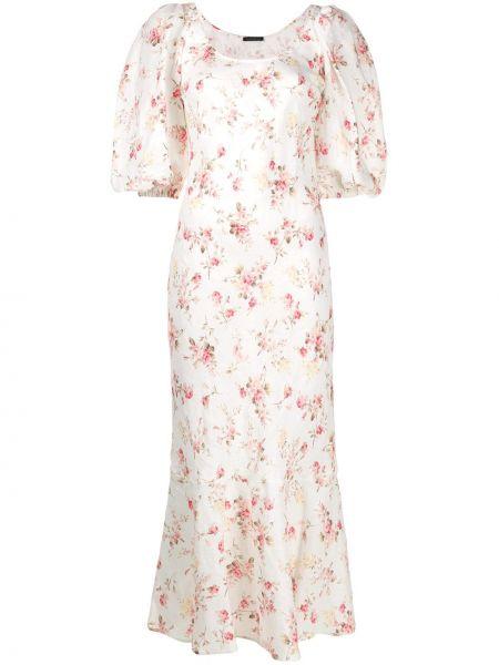 Платье миди розовое с цветочным принтом Wandering