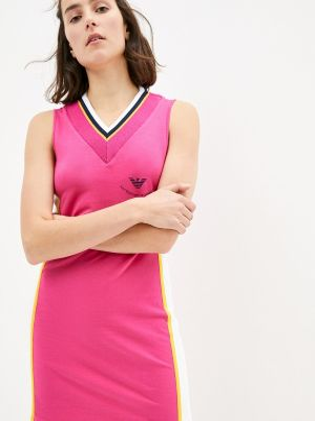 Розовое платье Ea7