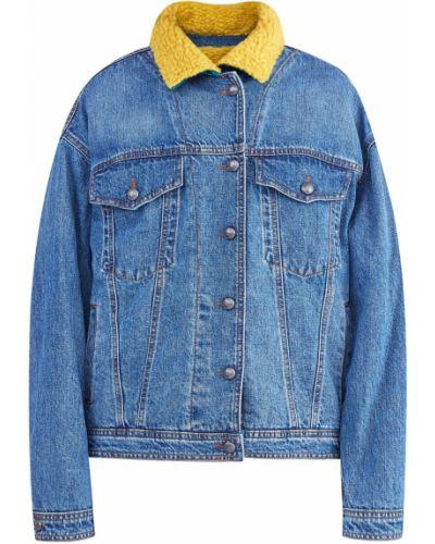 Джинсовая куртка бархатная с аппликациями Etro