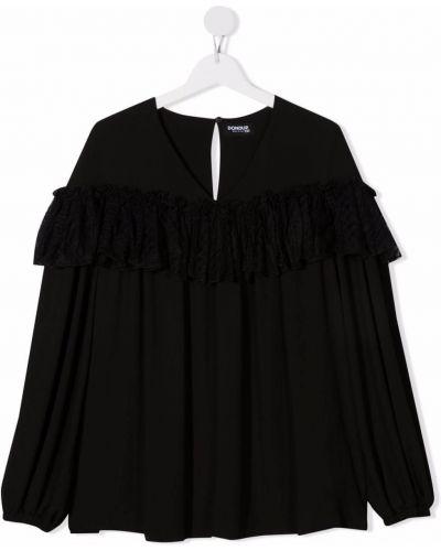 Satynowa bluzka - czarna Dondup Kids