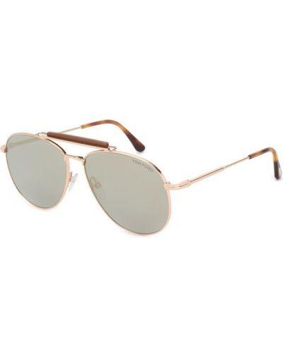 Солнцезащитные очки золотой Tom Ford