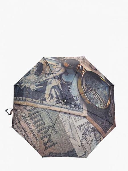 Зонт коричневый складной Flioraj