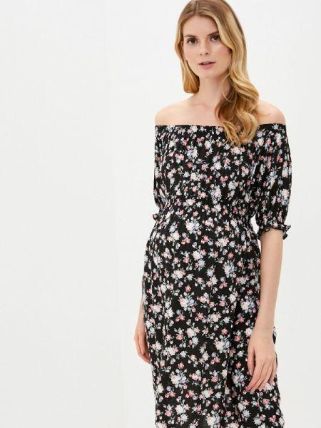 Платье с открытыми плечами черное Mammysize