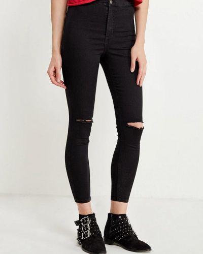 Черные джинсы рваные Topshop