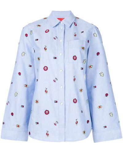 Рубашка с вышивкой расклешенная Tommy Hilfiger