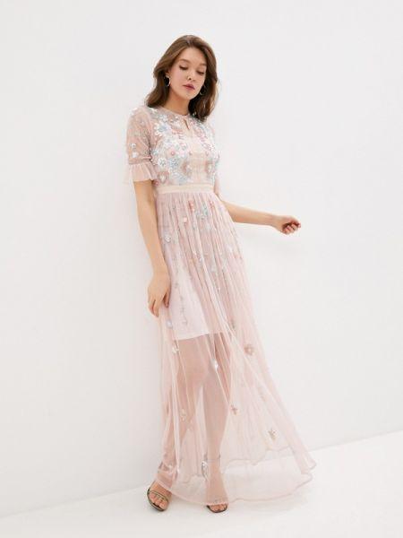 Вечернее платье розовое весеннее Frock And Frill