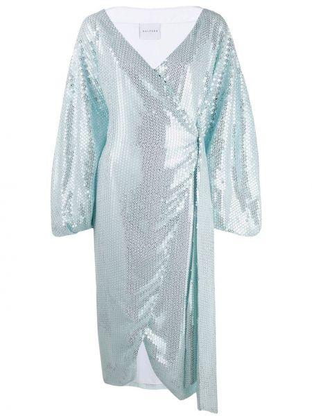 Платье миди с запахом с V-образным вырезом Halpern